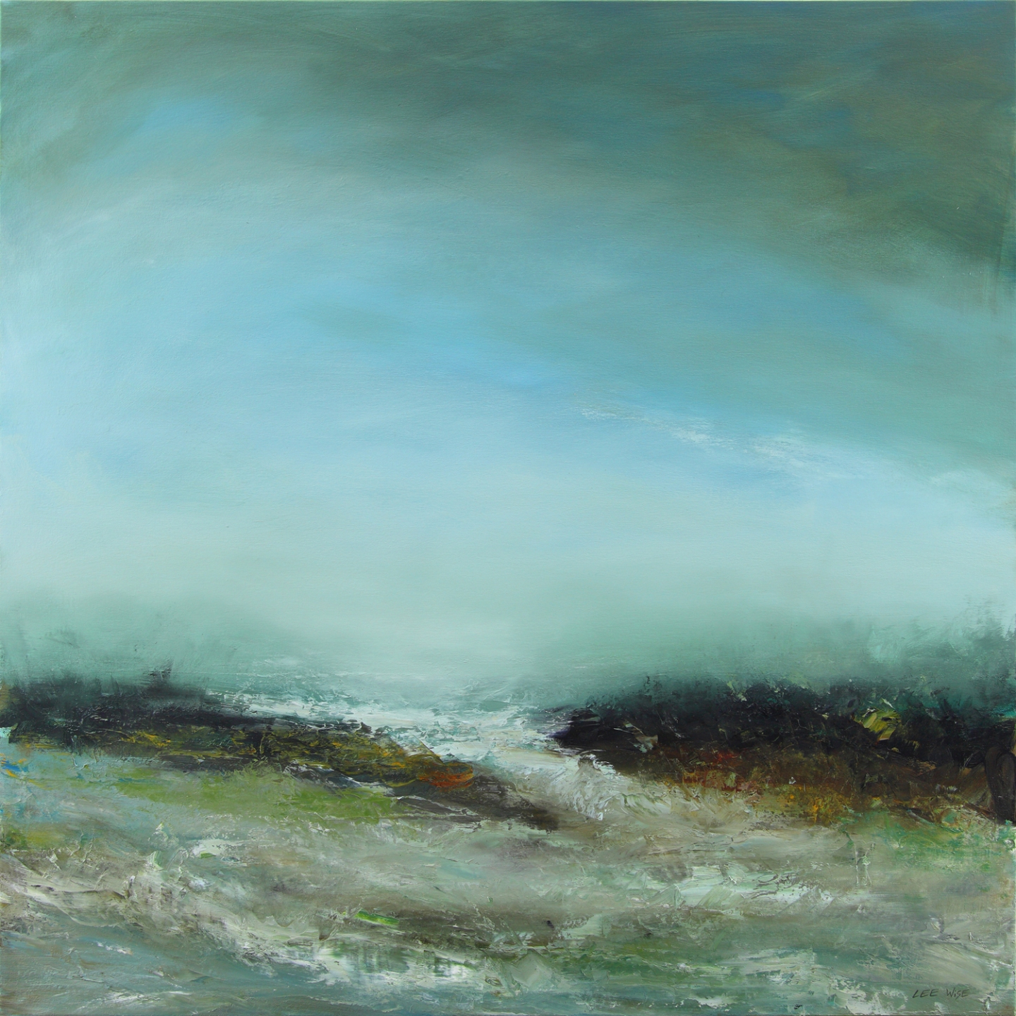 Breakers, oil on canvas, 100x100cm